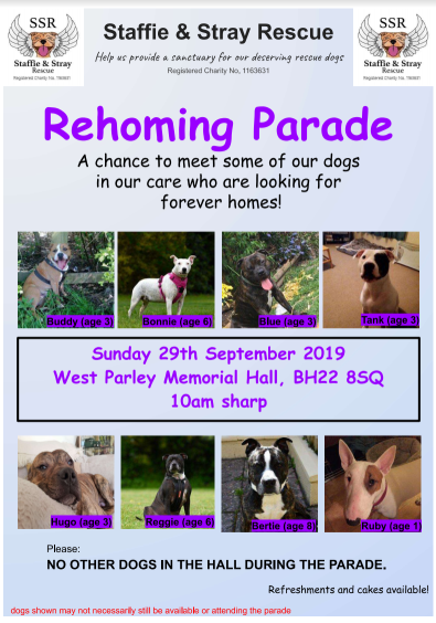 Rehoming Parade 29th September